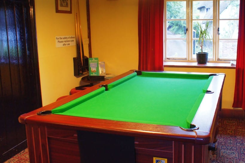 different pool table dimensions