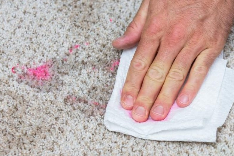 how to remove nail polish stain from carpet