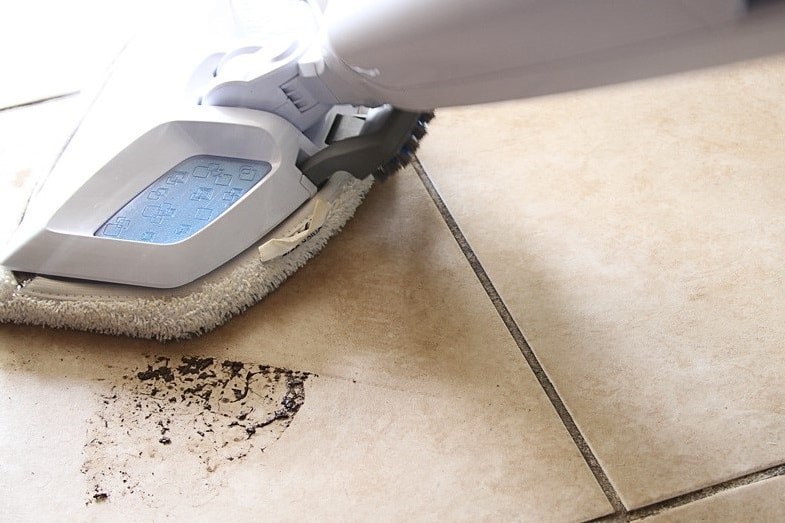 best way to clean grout and tile