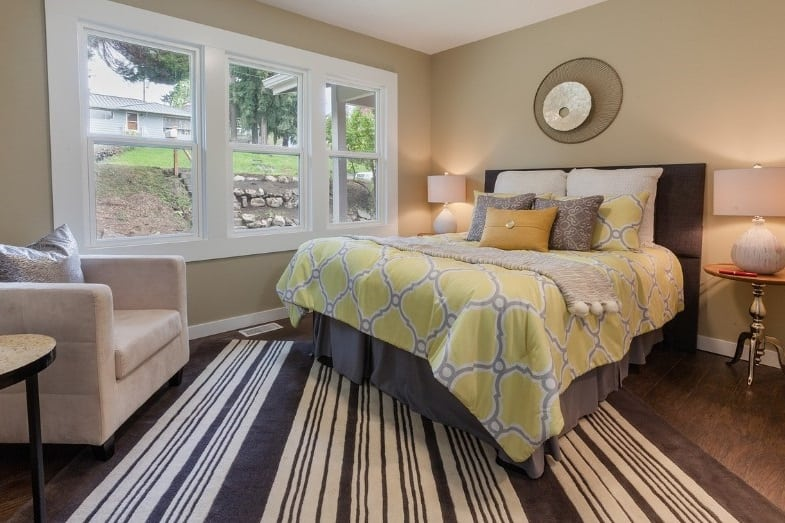 average master bedroom size