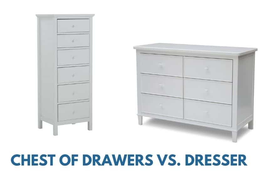 chest of drawers vs dresser