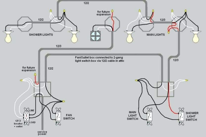 how to wire a light switch and outlet