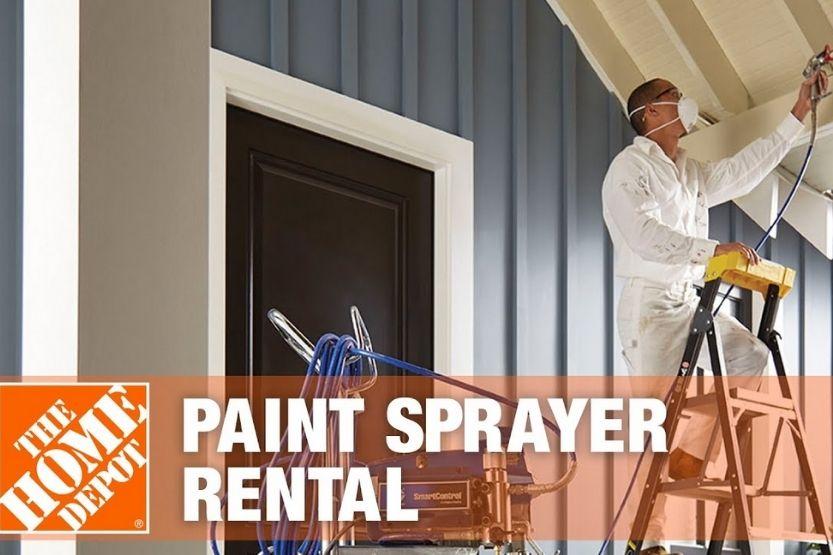 Home depot paint sprayer rental