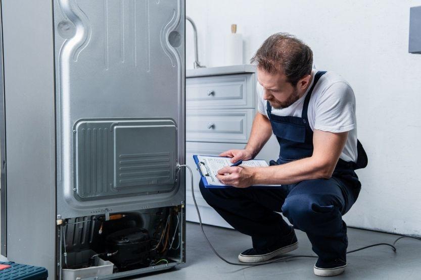 mini fridge compressor running but not cooling